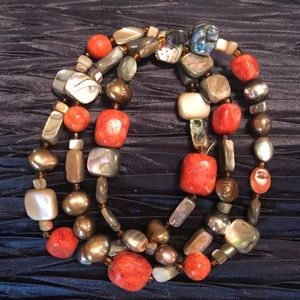 SILPADA B1695 Coral Stretch Bracelets Set of 3